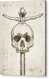 Skull Splits Acrylic Print by H James Hoff