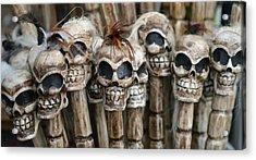 Skull Sticks Acrylic Print