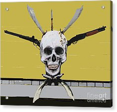 Skull With Guns Acrylic Print