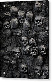 Skulls Acrylic Print by Bruno Ehrs
