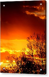 Sky Ablaze Acrylic Print by Russell  King