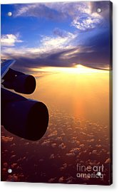 Acrylic Print featuring the photograph Sky Above 30000 Feet  by Aiolos Greek Collections