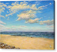 Acrylic Print featuring the painting Sky And Sand by Joe Bergholm