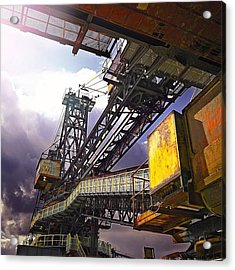 #sky #architecture #industrie #summer Acrylic Print