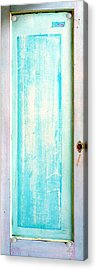 Sky Blue Entrance Entre Vous Acrylic Print by Asha Carolyn Young