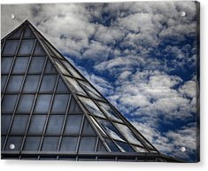 Sky Clouds And Glass Acrylic Print by Robert Ullmann