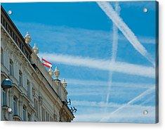 Sky Crossroads Acrylic Print by Viacheslav Savitskiy