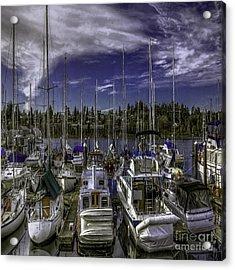 Acrylic Print featuring the photograph Sky Embrace by Jean OKeeffe Macro Abundance Art