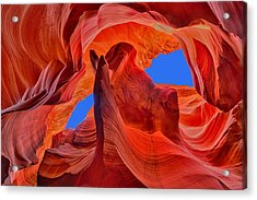 Sky Eyes In Antelope Canyon Acrylic Print