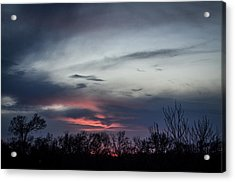 Sky Faces Acrylic Print by Kelly Kitchens