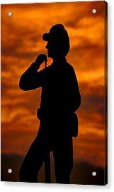 Sky Fire - Flames Of Battle 7th Pennsylvania Reserve Volunteer Infantry-a1 Sunset Antietam Acrylic Print