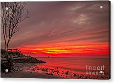 Sky Fire Acrylic Print by Marvin Spates