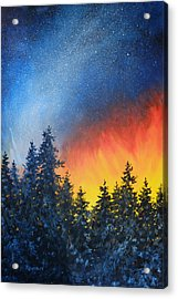 Sky Fire Acrylic Print by Richard De Wolfe
