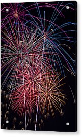 Sky Full Of Fireworks Acrylic Print by Garry Gay