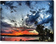 Acrylic Print featuring the painting Sky by Georgi Dimitrov