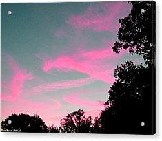 Sky Glow Acrylic Print by Aeabia A