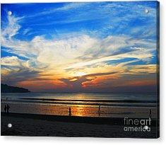 Sky Hues Acrylic Print by Marguerita Tan