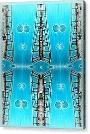 Sky Ladders Acrylic Print by Wendy J St Christopher