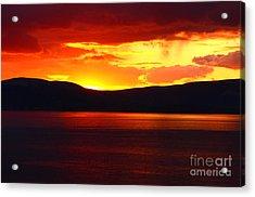 Sky Of Fire Acrylic Print by Aidan Moran