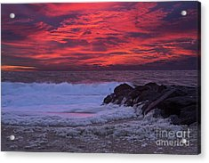 Sky On Fire In Lewes Acrylic Print