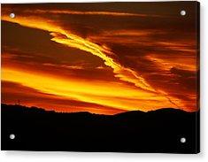 Sky On Fire Acrylic Print by Michael Courtney