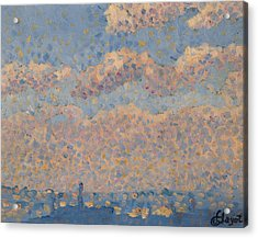 Sky Over The City Acrylic Print by Louis Hayet