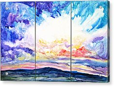 Sky Sonata Acrylic Print by Joan Hartenstein