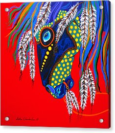 Acrylic Print featuring the painting Sky Spirit by Debbie Chamberlin