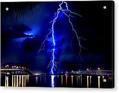 Sky Streaking Acrylic Print by Doug Heslep