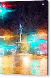 Sky Tower By Night Acrylic Print