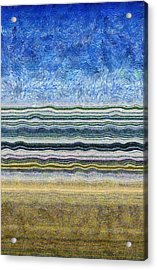 Sky Water Earth 2 Acrylic Print by Michelle Calkins