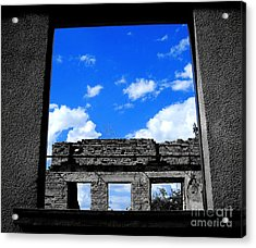 Acrylic Print featuring the photograph Sky Windows by Nina Ficur Feenan