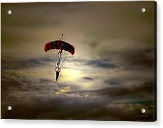 Evening Skydiver Acrylic Print