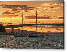 Skye Bridge Sunset Acrylic Print by Chris Thaxter