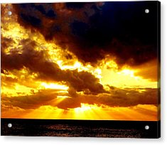 Acrylic Print featuring the photograph Skygold by Amar Sheow