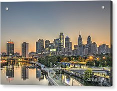 Skyline At Dawn Acrylic Print