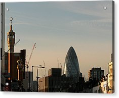 Acrylic Print featuring the photograph Skyline At Whitechapel by Helene U Taylor