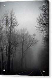 Skyline Drive In Fog Acrylic Print by Greg Reed