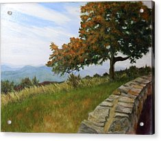 Acrylic Print featuring the painting Skyline Drive Virginia by Sandra Nardone