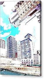 Skyline Flowing Acrylic Print by Scott Dixon