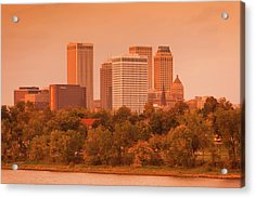 Skyline From The Arkansas River Acrylic Print by Panoramic Images