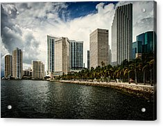 Skyline Miami Acrylic Print by Scott Mullin