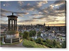 Acrylic Print featuring the photograph Skyline Of Edinburgh Scotland by Michalakis Ppalis