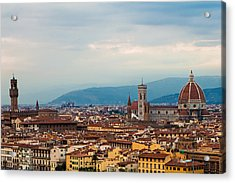 Skyline View Of Florence Italy Acrylic Print