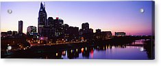 Skylines At Dusk Along Cumberland Acrylic Print by Panoramic Images