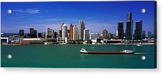 Skylines At The Waterfront, River Acrylic Print