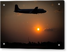 Acrylic Print featuring the photograph Skymaster Sunset by Paul Job