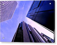 Acrylic Print featuring the photograph Skyscraper Angles by Matt Harang
