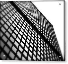 Skyscraper Facade Acrylic Print by Valentino Visentini