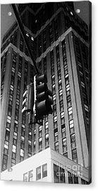 Skyscraper Framed Traffic Light Acrylic Print by James Aiken